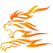 Lion flame — Stockfoto