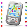 City Map on mobile phone - Stock Photo