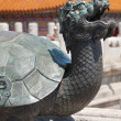 Bronze turtle in China Emperor Forbidden city — Stock Photo