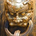 Antik Bronz aslan — Stok fotoğraf