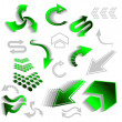 Royalty-Free Stock Vectorielle: Green arrow icons