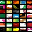 Various business cards - Imagen vectorial