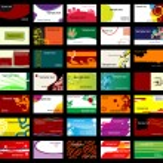 varias tarjetas de negocio — Vector de stock