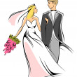 Royalty-Free Stock Vector Image: Bride and groom