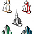 Royalty-Free Stock Vector Image: Real estate symbols