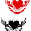 Heart tattoo - Stock Vector
