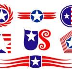 American patriotic symbols — Stock Vector #3386107