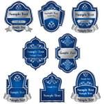 Set of vintage silver labels — Stock Vector #3386114