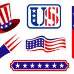 American patriotic symbols — Stock Vector