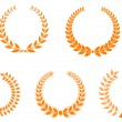 Set of laurel wreaths — Vector de stock #3386178