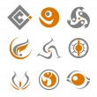 Set of abstract symbols — Stock Vector #3386183