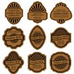 set vintage bruine etiketten — Stockvector  #3386234