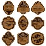Set of vintage brown labels — Stock Vector #3386234