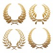 Royalty-Free Stock Векторное изображение: Set of laurel wreaths