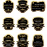 Set of vintage labels — Stock Vector