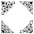 Flower patterns and borders - Stock Vector