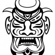 Ancient mask - Stock Vector