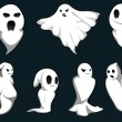 Royalty-Free Stock Vectorielle: Mystery ghosts