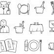 Stock Vector: Restaurant symbols