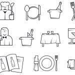 Restaurant symbols — Stock Vector #3386708