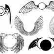 Royalty-Free Stock Vector Image: Set of wing symbols