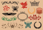Heraldic elements — Wektor stockowy