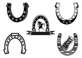 Set of horseshoes — Stock Vector