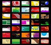 çeşitli ticari kartlar — Stok Vektör