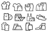 Set of cloth — Stock Vector