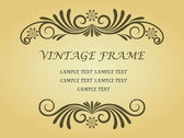 Swirl frame — Stock Vector