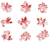 Flower patterns — Stock Vector