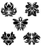 Wzory kwiatów — Wektor stockowy