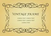Swirl vintage frame — Stock Vector