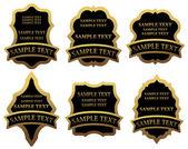 Set of golden labels — Stock Vector