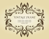 Vintage frame in victorian style — Stock Vector