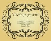 Cadre vintage design — Vecteur