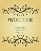 Vintage frame for design — Stock Vector