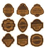 Set of vintage brown labels — Stock Vector