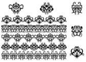 Blomma mönster och gränser — Stockvektor