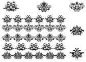 Květinové vzory a hranice — Stock vektor