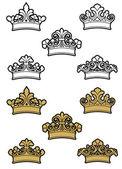 Heraldic crowns — Stock Vector