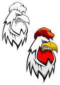 Cock head tattoo — Stock Vector