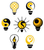 Light bulbs symbols — Stock Vector
