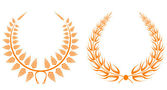 Set of laurel wreaths — Stockvector