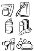 Hygiene objects — Stock Vector
