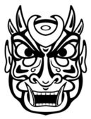 Ancient mask — Stock Vector