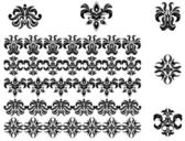 Flower patterns and borders — Vector de stock