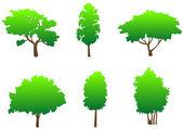 Tree symbols — Stock Vector
