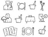 Restaurant symbolen — Stockvector