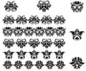 Wzory kwiatów i granic — Wektor stockowy